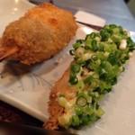 串匠 - ◆ミンチボール ◆鯵のタルタル・・お葱タップリのタルタルソースがいい味わい。