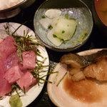 吟彩 - 銀だら焼、中落ちセット定食 税込950円