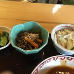 福やお食事処 - 漬け物、小鉢
