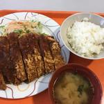 福山平成大学学生食堂 - 料理写真:ジャンボチキンカツ定食  530円