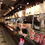 丸亀製麺 - セルフスタイルの店内