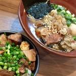 71296434 - 極醤油SOBA+炙りチャーシュー丼