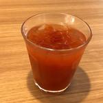 ステーキのどん - 食前のトマトジュース