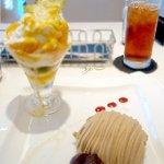 マールブランシュ JR京都伊勢丹店 - トロピカル・フルーツとチーズケーキのアレンジメントSET