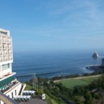 小名浜オーシャンホテル&ゴルフクラブ - 海辺です ピンぼけ