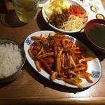 ハンサラン - イカポッカ定食900円