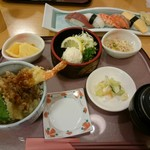 うまか丼どん亭 - 料理写真:うまか天丼セット(980円)