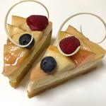 ベル・アンジュ - 料理写真:飛騨桃のタルト 税込480円×2