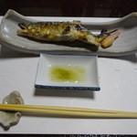 71305945 - 焼き物 天然鮎塩焼き はじかみ 蓼酢