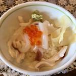 中華そば 四つ葉 - 「だるまいかのイカ丼」350円