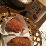 新橋シャモロック酒場 - お通しのメンチカツ