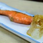 岩手屋本店 - 紅鮭の塩焼@490円
