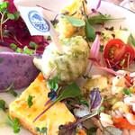 松島イタリアン トト - 真ん中が青のりの天ぷら さくふわで超美味