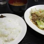 マツヤ - 野菜炒めランチ