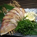 朝獲れ鮮魚 九兵 - 炙りゴマかんぱち