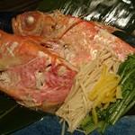 朝獲れ鮮魚 九兵 - 金目鯛の酒蒸し