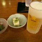 71312664 - ほろよいセット1,000円(税込)のビール・枝豆・冷奴