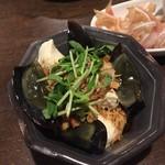 姪浜 門際飯荘 - ピータン豆腐