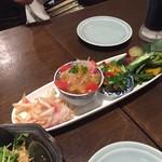 姪浜 門際飯荘 - 前菜盛り合わせ
