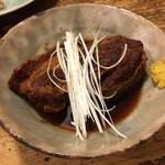 更科堀井 - 豚の返し煮 777円