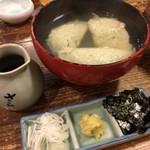 更科堀井 - そばがき 1,080円