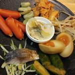 福島壱麺 - おまかせあて盛り合せ