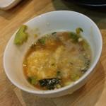 福島壱麺 - 月見とろろ-燃え萌え壱麺助スープ追加
