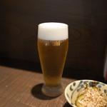 銀蕎麦國定 - 生ビールとお通し