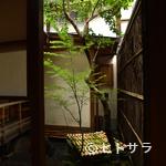 御幸町 田がわ - 京の四季を感じる坪庭を眺めながらの食事もまた一興