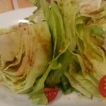 ピッツェリア チーロ - 丸ごとレタスのサラダ(S)¥580