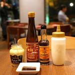 旬香亭 - ソース2種、マスタード、ドレッシング