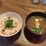 71322884 - たこ飯と味噌汁