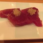 後楽寿司 やす秀 - かつお玉ねぎのせ