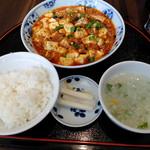 """71323913 - """"四川マーボー豆腐"""" & """"定食セットA/ライス・スープ・本日の小菜"""""""