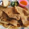 シャンティ - 料理写真:ポークジンジャーは薄切り豚ロース肉が3枚