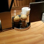 麻布麺房どらいち - 調味料は基本形