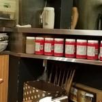 麻布麺房どらいち - 芝麻醤の大量ボトル