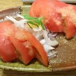 割箸 - トマトサラダ