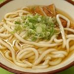 三角茶屋豊吉うどん - 天ぷら(魚のすり身)うどん