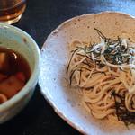 月見里 - 鶏南蛮蕎麦 バルサミコ風味