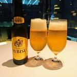 レスト ケイ ヤマウチ - 先ずはビールで乾杯です~\(^^)/