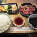 焼肉明成館 - カルビセット¥880