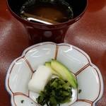 葉渡莉 - 汁物・香物