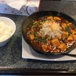麺や 仁 - 麻婆カレー麺半ライス付き 900円