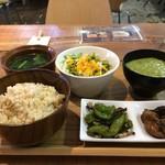 ひょうごイナカフェ - 今回は、オクラとろろご飯定食です(2017.8.11)