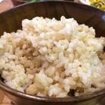 ひょうごイナカフェ - 玄米ご飯、量はたっぷりですよ(2017.8.11)