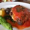 イヌイット - 料理写真:★★★☆ ランチ ハンバーグ チーズとトマトソース 玄米