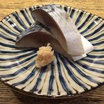 炙り焼き かつの - きずし(〆鯖)