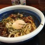 丸亀製麺 - 結局、つけ汁をぶっかけてしまいました(^o^;)