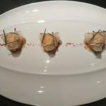 71337698 - ズワイ蟹と大根のラメルをピモンデスベレット風味で